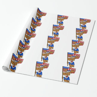 Patriot Moose Wrapping Paper
