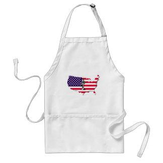 Patriot on Flag Aprons