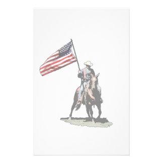 Patriot on horseback custom stationery