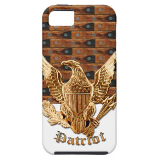 Patriot on wood background iPhone 5 cases