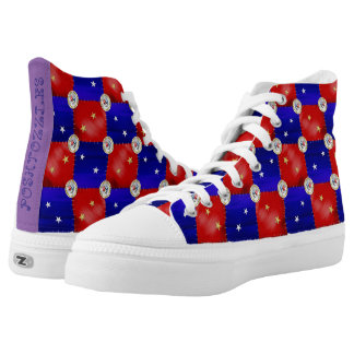 Patriot patchwork printed shoes