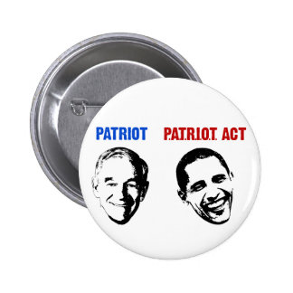 Patriot / Patriot Act 6 Cm Round Badge