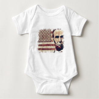 Patriot President Abraham Lincoln Baby Bodysuit
