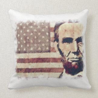 Patriot President Abraham Lincoln Throw Pillows