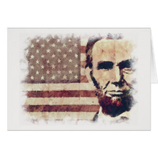 Patriot President Abraham Lincoln Greeting Card