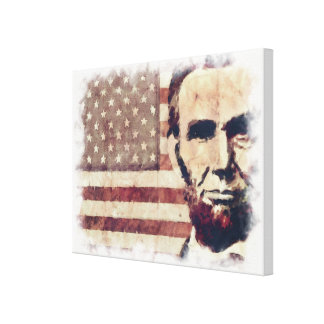 Patriot President Abraham Lincoln Stretched Canvas Prints