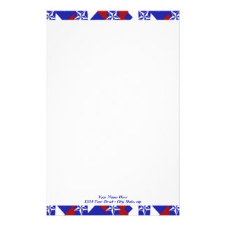 Patriot Quilt custom Personalized Stationery