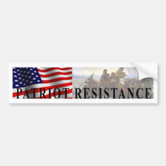 Patriot Resistance bumper sticker