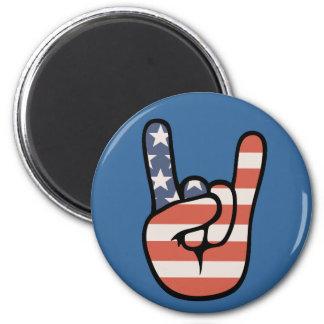 Patriot Rock Hand 6 Cm Round Magnet
