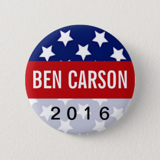 Patriot Stars Ben Carson for President 2016 6 Cm Round Badge