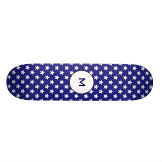 Patriot stars pattern 18.1 cm old school skateboard deck