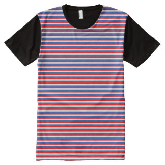 Patriot Stripes All-Over Print T-Shirt