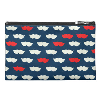 Patriot Vintage Red White Moustaches Travel Accessory Bags
