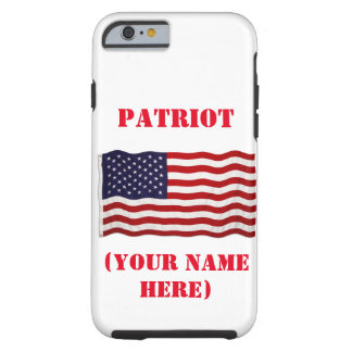 PATRIOT with American flag on iPhone 6/6s cover