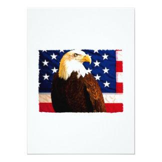 Patriotic 14 Cm X 19 Cm Invitation Card