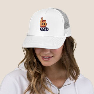 Patriotic #1 Mom Trucker Hat