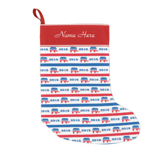 Patriotic 2016 Republican Elephant Stripes Small Christmas Stocking