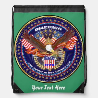 Patriotic 4th July View About Design Drawstring Backpack