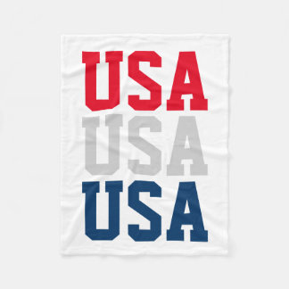 Patriotic 4th of July party USA fleece blankets Fleece Blanket