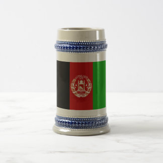 Patriotic Afghan Flag Beer Stein