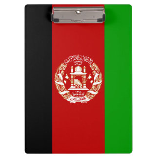 Patriotic Afghan Flag Clipboard