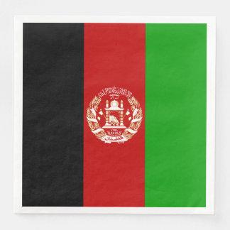 Patriotic Afghan Flag Disposable Napkin