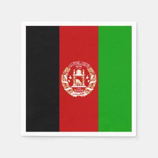 Patriotic Afghan Flag Disposable Serviette