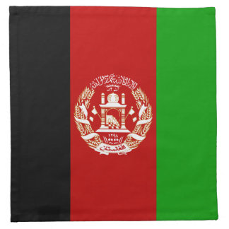 Patriotic Afghan Flag Napkin