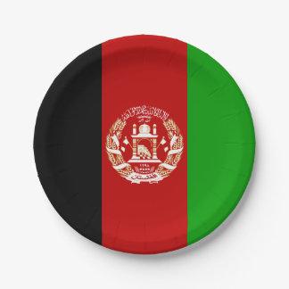 Patriotic Afghan Flag Paper Plate