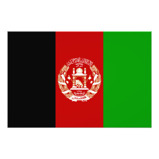 Patriotic Afghan Flag Photo Print