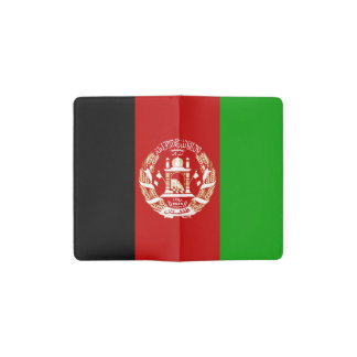 Patriotic Afghan Flag Pocket Moleskine Notebook