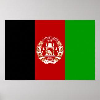 Patriotic Afghan Flag Poster
