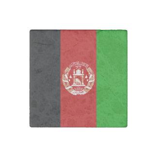 Patriotic Afghan Flag Stone Magnet