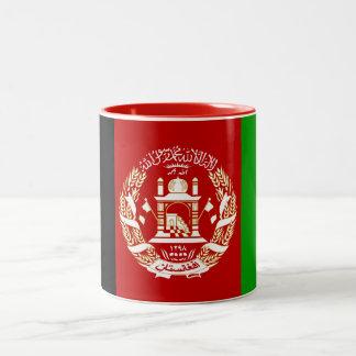 Patriotic Afghan Flag Two-Tone Coffee Mug