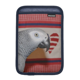 Patriotic African Grey Parrot iPad Mini Sleeve
