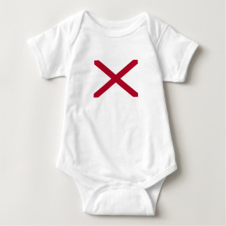 Patriotic Alabama State Flag Baby Bodysuit
