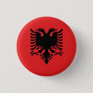 Patriotic Albanian Flag 3 Cm Round Badge