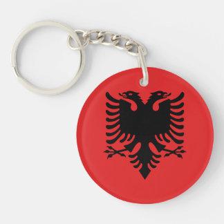 Patriotic Albanian Flag Key Ring