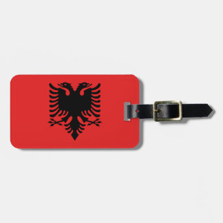 Patriotic Albanian Flag Luggage Tag