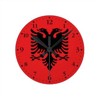 Patriotic Albanian Flag Round Clock