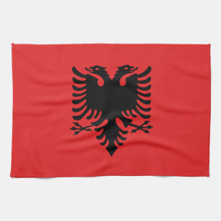 Patriotic Albanian Flag Tea Towel