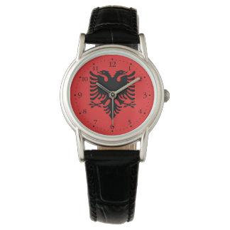 Patriotic Albanian Flag Watch