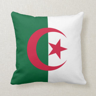 Patriotic Algerian Flag Cushion