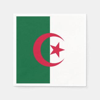 Patriotic Algerian Flag Disposable Serviette