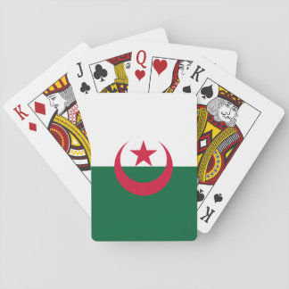 Patriotic Algerian Flag Playing Cards