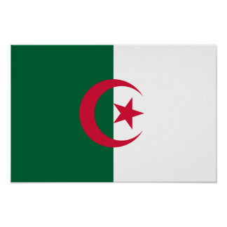 Patriotic Algerian Flag Poster