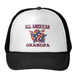 Patriotic All American Grandpa Cap