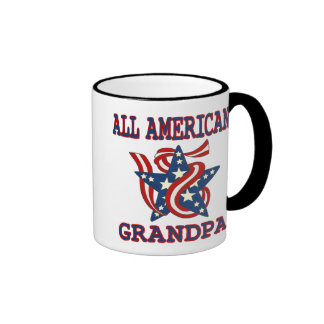 Patriotic All American Grandpa Coffee Mugs