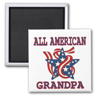Patriotic All American Grandpa Refrigerator Magnets