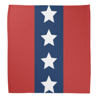 Patriotic All-American Red White and Blue Stripes Bandana
